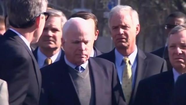 Senator John McCain leads delegation in Kiev