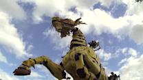 Enormous mechanical dragon roams French city
