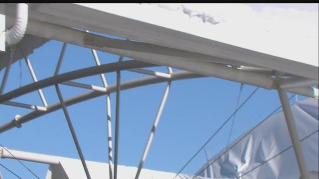 Indy airport parking garage canopy collapses, again