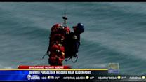 Downed paraglider rescued near glider port