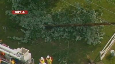Car Wreck On Route 30 Takes Out Pole