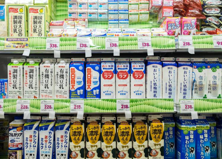 牛乳大多都會和豆乳一同陳列販售,台灣人想必都知道牛乳和豆乳的不同處。