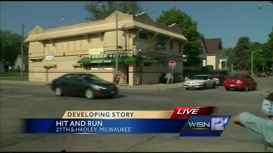 Hit-and-run caught on surveillance video at 27th, Hadley