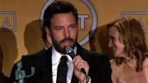 Affleck, 'Abbey' Cast React to SAG Wins