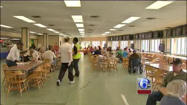 Sandy victims seek shelter at Monmouth Park Racetrack