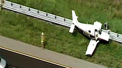Small plane lands on highway near Tampa