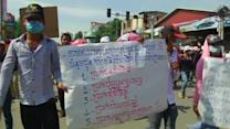 Garment workers protest for fair pay