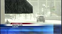 Mainers have some fun in the snow