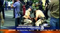 Protesters Clash With L.A. Police After Zimmerman Verdict