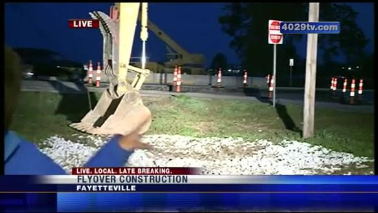 Construction starts on College Ave. for flyover project