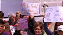 Activists Rally For Education Spending At State Capitol