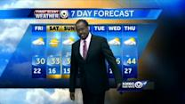 Warmer temperatures won't arrive until Sunday