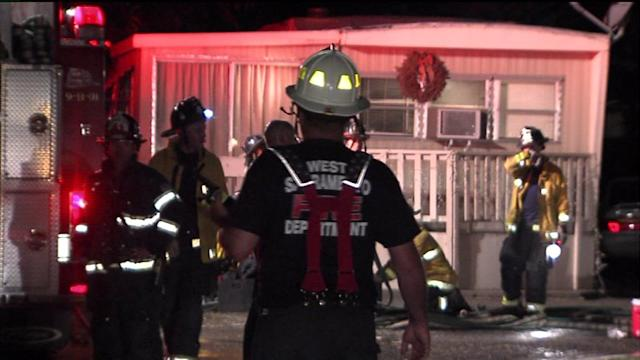 Seven People Homeless After Mobile Home Fire Takes Everything