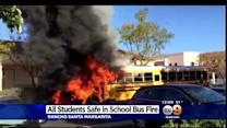 School Bus Catches On Fire Outside OC Middle School; Driver Hailed As 'Hero'