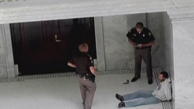 Utah man drives truck up state capitol steps, claims 'My ...