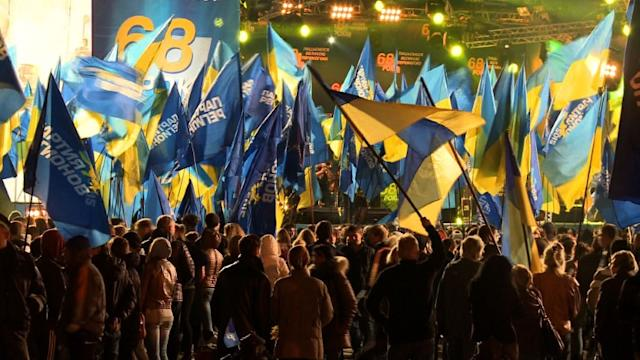 Ukraine ruling party leads early election results