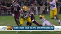 How far will LSU cornerback Jalen Collins drop after failed drug tests?