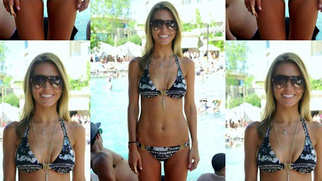 Audrina Patridge Shows Off Her Super Slim Body in Tiny Bikini