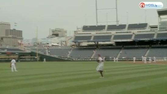 LSU Tigers in Omaha for college world series