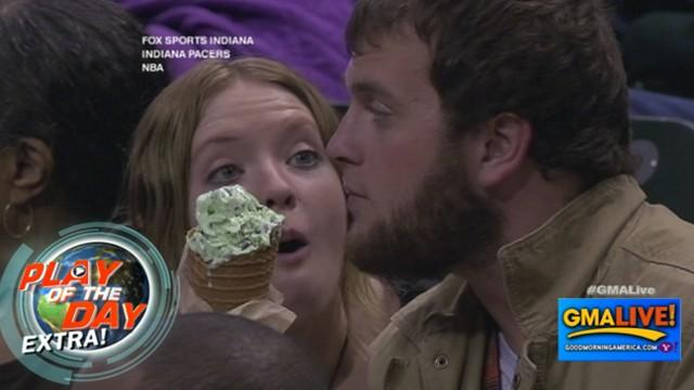 Guy Won't Share His Ice Cream With Girlfriend at Game