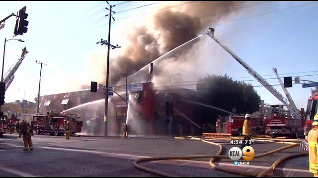 LAFD: Building 'Likely A Total Loss' In Hollywood Structure Fire