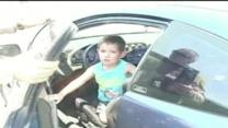 California police rescue child from hot car