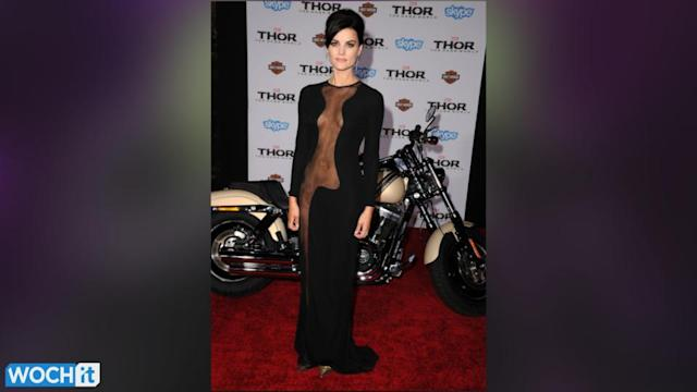 Abbey Clancy Goes Without A Bra And Underwear In Racy Dress, Makes Jaimie Alexander Look Tame