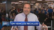12M vehicles recalled from 8 automakers