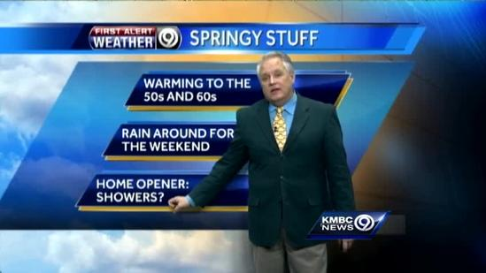 Temperatures warm up a little more Tuesday