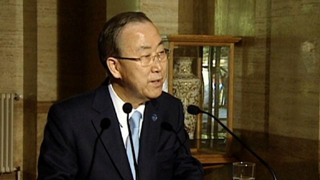 Syria conference 'best chance' of peace: Ban Ki-moon