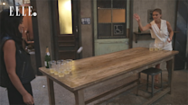 Nina Agdal Plays Beer Pong for the First Time