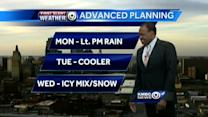 Rain moves in Monday, winter weather due Wednesday