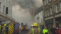 Major fire closes part of Newcastle city centre
