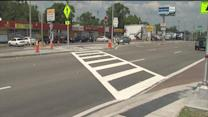 The mother of a young girl who died crossing Busch Blvd calls new crosswalk a death trap