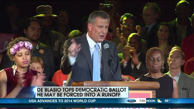 De Blasio Leads Dems, But A Runoff May Be Coming