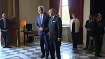 Kerry arrives in Paris for Gaza conference