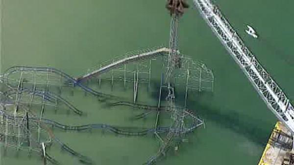 Demolition on famous roller coaster wrecked by Sandy