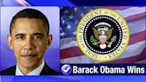 President Obama wins, gets second term