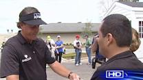 Phil Mickelson helps out local teacher