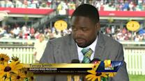 Ravens wide receiver Torrey Smith at the Preakness