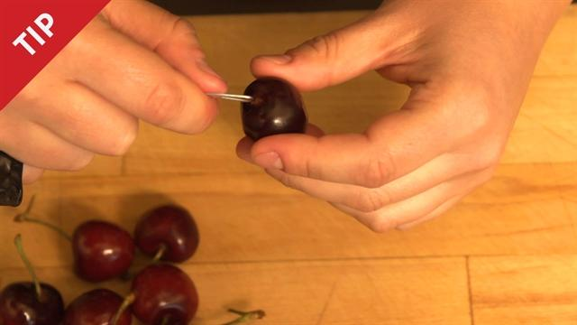 How to Pit a Cherry with a Paper Clip
