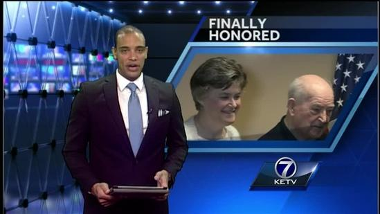 WWII veteran honored 70 years later