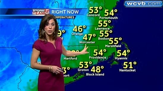 Cindy's Thursday Boston area weather forecast