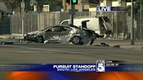 Police Pursuit Ends in SWAT Stand-off in South L.A.