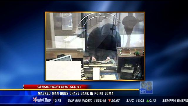Masked man robs Chase Bank in Point Loma