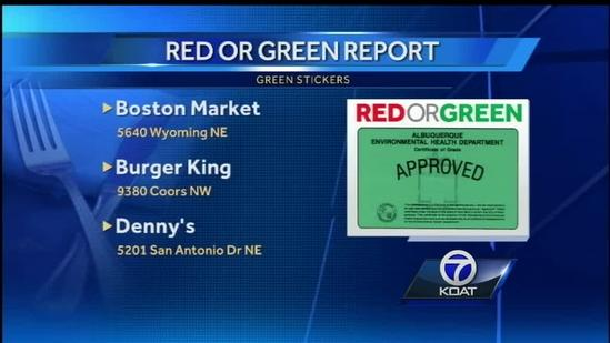 Red Or Green Restaurant Report: May 4, 2014