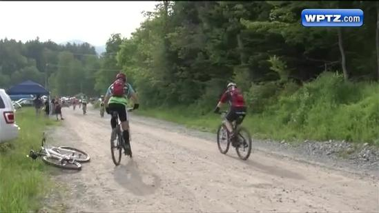 Elite cyclists battle to the top of Whiteface Mountain