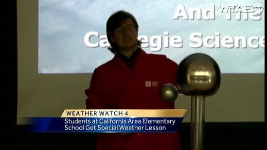 Weather Watch 4 School Visit: California Area Elementary School