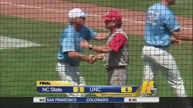 Tar Heels top Wolfpack 4-3 in ACC elimination game