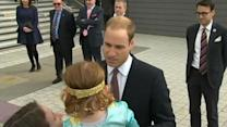 Little girl rejects kiss from Britain's Prince William